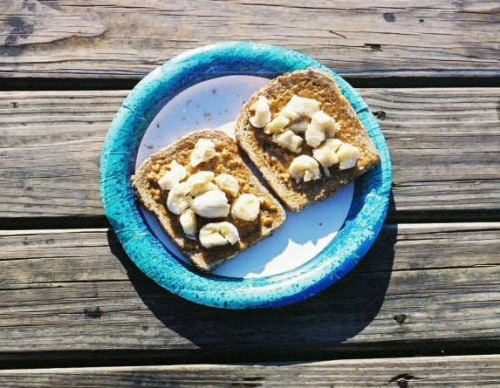 "Peanut Butter Banana Toast! ""real food.  home made."""