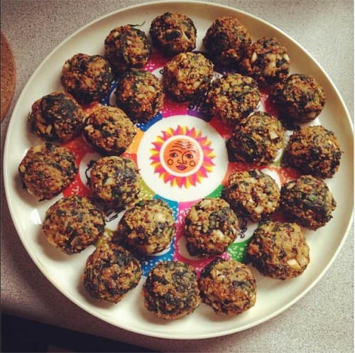 Spinach Quinoa Flax Balls | real food. home made.