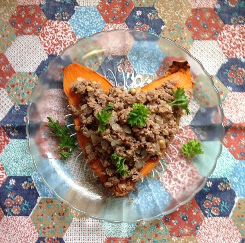 Turkey Hushwee Stuffed Sweet Potatoes | real food. home made.
