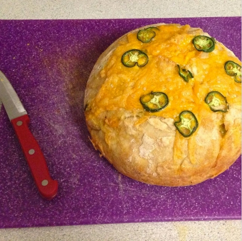 Everyday Crusty Bread with Jalapeño Cheddar Variation   real food. home made.