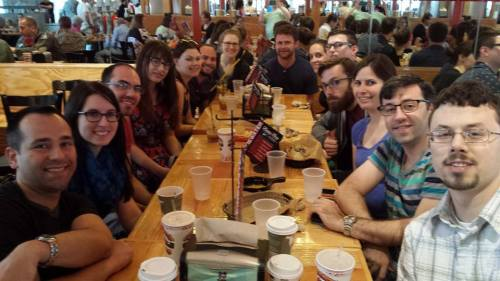 Here is a photo of all of us at Torchy's Tacos!